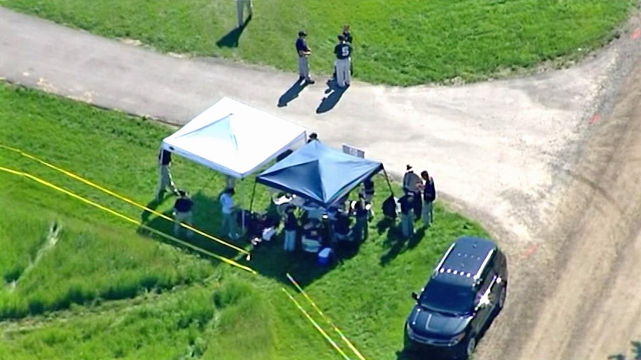 The FBI searches a field in Oakland Township, Mich., for the body of Teamsters boss Jimmy Hoffa on Monday, June 17, 2013.