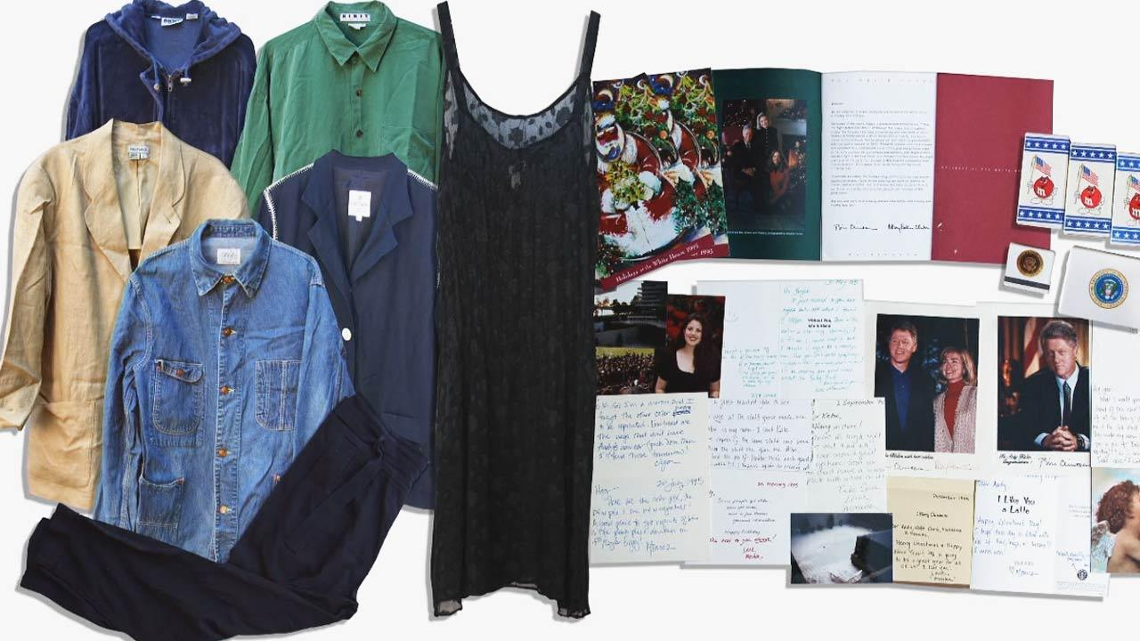 A trove of items once owned or gifted by Monica Lewinsky is now up for auction.  The 32-item collection is featured online.