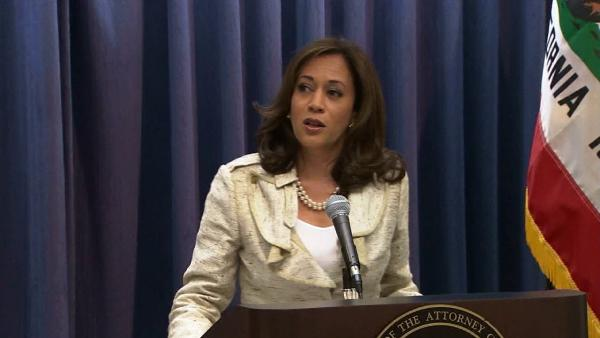 California Attorney General Kamala Harris holds a news conference Wednesday, June 26, 2013, to call for immediate resumptions of same-sex marriages.