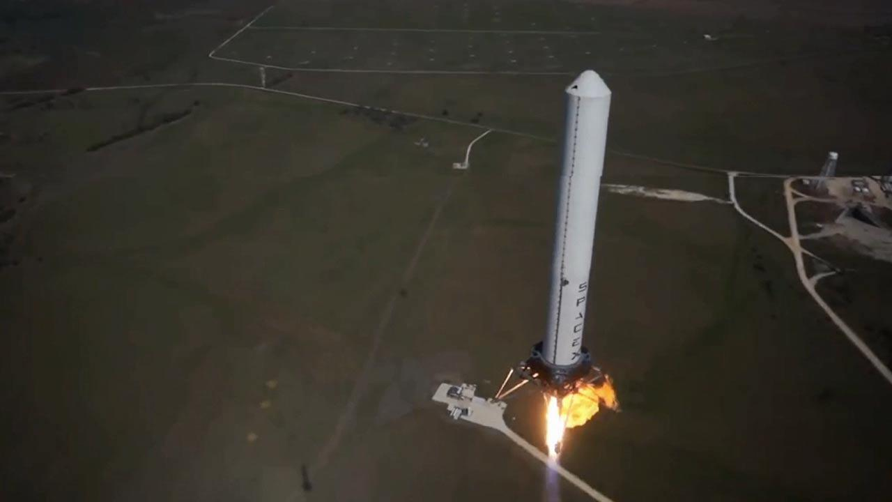 SpaceXs Grasshopper rocket completed its highest leap to date, rising to 2400 feet in the air Monday, Oct. 7, 2013.