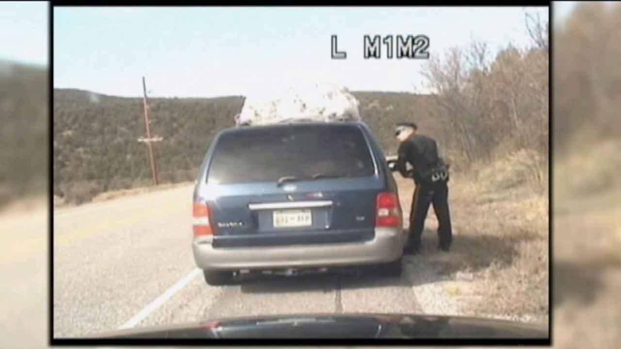 A dashboard camera captured an officer opening fire on a minivan with five kids inside during a traffic stop in New Mexico.