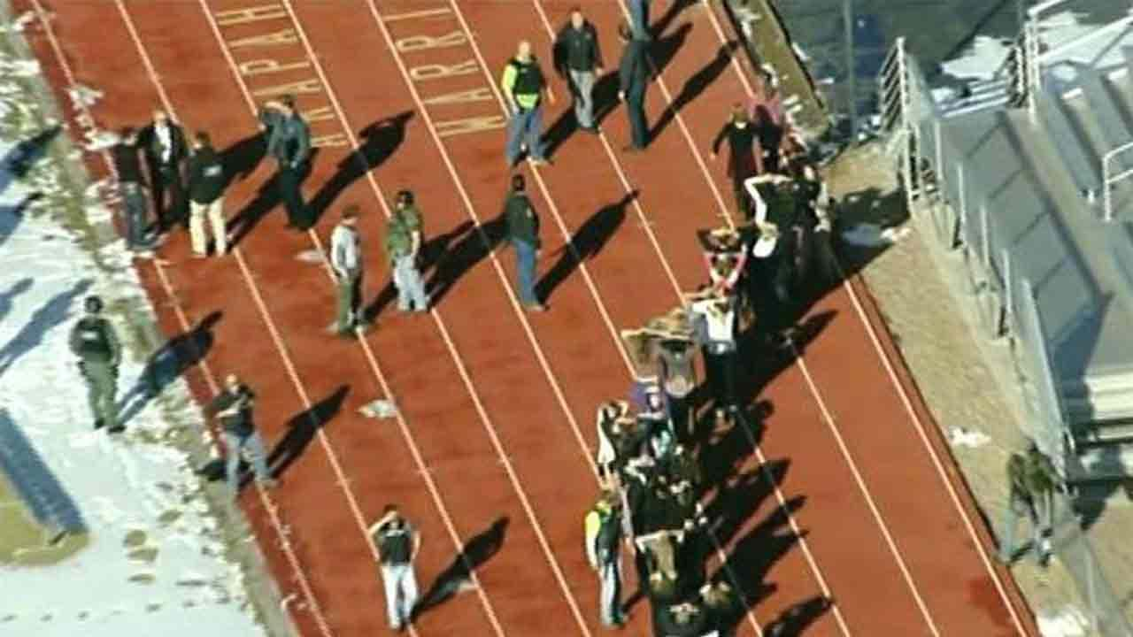 One student was injured in a shooting at Arapahoe High School in Centennial, Colo. on Friday, Dec. 13, 2013.