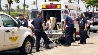 A 16-year-old boy is seen on a stretcher after FBI and airline officials said he survived a flight from California to Hawaii in a wheel well on Sunday, April 20, 2014.
