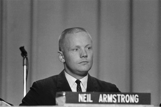 In this Sept. 17, 1962 file photo, Neil Armstrong, one of the nine astronauts, is shown as he was introduced to the press, along with the other astronauts in Houston. The family of Neil Armstrong, the first man to walk on the moon, says he has died at age 82. A statement from the family says he died following complications resulting from cardiovascular procedures. It doesn&#39;t say where he died. Armstrong commanded the Apollo 11 spacecraft that landed on the moon July 20, 1969. He radioed back to Earth the historic news of &#34;one giant leap for mankind.&#34; Armstrong and fellow astronaut Edwin &#34;Buzz&#34; Aldrin spent nearly three hours walking on the moon, collecting samples, conducting experiments and taking photographs. In all, 12 Americans walked on the moon from 1969 to 1972.   <span class=meta>(AP Photo&#47; Anonymous)</span>