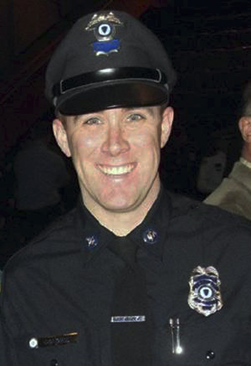 This undated photo provided by the Massachusetts Bay Transportation Authority shows transit police officer Richard Donohue, 33, who was critically injured in an early morning shootout Friday, April 19, 2013, with the two suspects in the Boston Marathon bombings. <span class=meta>(Massachusetts Bay Transportation Authority)</span>