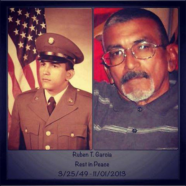 ABC7 viewer Jose Norma Camarillo sent in this photo of Ruben T. Garcia in honor of Veterans Day. Pay tribute to the men and women who fight for our country! Post a photo of a veteran you want to honor on our ABC7 Facebook page. You can also send us your photos on Twitter or Instagram with #abc7salutes. <span class=meta>(ABC7 viewer Jose Norma Camarillo)</span>