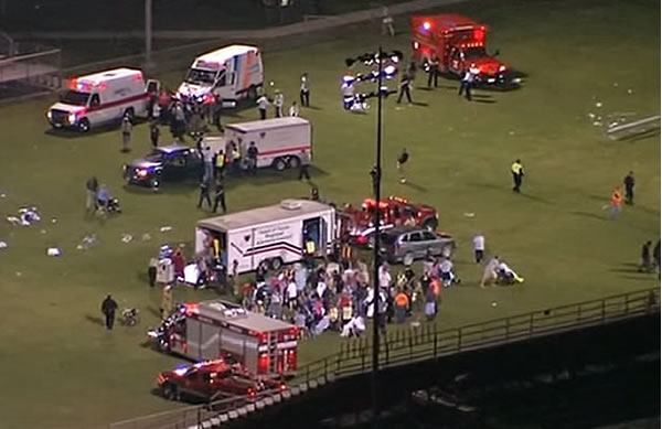"<div class=""meta ""><span class=""caption-text "">A massive explosion at a fertilizer plant in West, Texas, injured numerous people on Wednesday, April 17, 2013. Authorities set up a staging area on the local high school's football field.</span></div>"