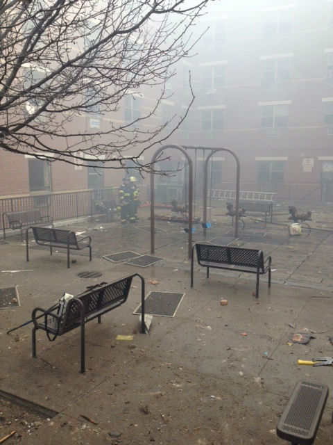Photos from Eyewitness News viewers and reporters of the explosion in East Harlem on Wednesday, March 12, 2014. <span class=meta>(WABC-TV)</span>