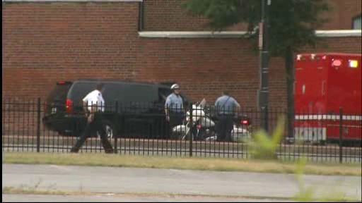 Authorities on-scene of a shooting at the Washington Navy Yard in Southeast Washington D.C. on Monday, Sept. 16, 2013.