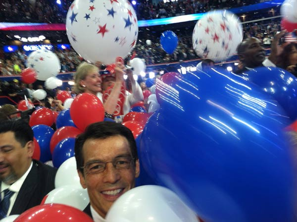 ABC7 Eyewitness News Anchor David Ono inside the...