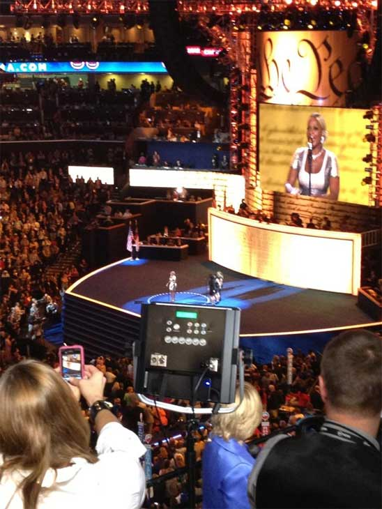 Mary J. Blige speaks at the Democratic National Convention in Charlotte, N.C., on Thursday, Sept. 6, 2012. <span class=meta>(KABC)</span>