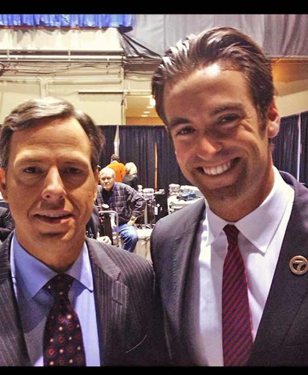 ABC7 reporter Elex Michaelson is seen with ABC News&#39; Chief White House Correspondent Jake Tapper in this photo from Tuesday, Nov. 6, 2012. <span class=meta>(KABC Photo)</span>