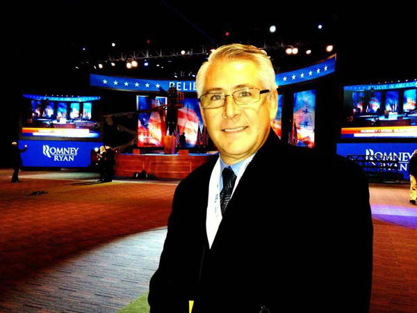 ABC7&#39;s Carlos Granda shared this photo of his workspace at Mitt Romney&#39;s headquarters in Boston, Mass on Nov. 5, 2012.  <span class=meta>(KABC Photo)</span>