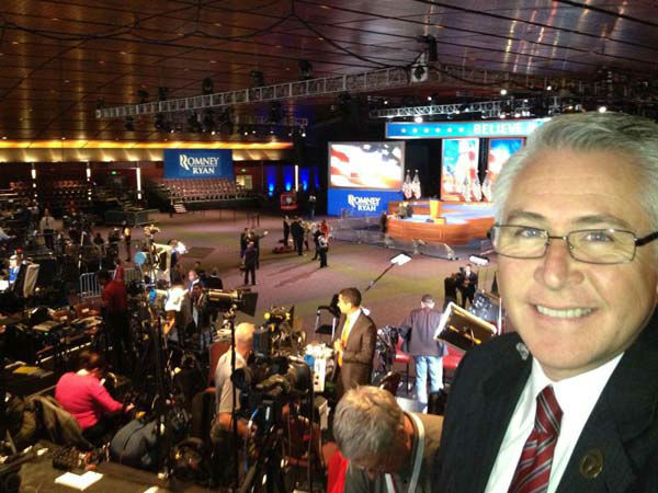 "<div class=""meta ""><span class=""caption-text "">ABC7's Carlos Granda shared this photo of his workspace at Mitt Romney's headquarters in Boston, Mass on Tuesday, Nov. 6, 2012.  (KABC Photo)</span></div>"