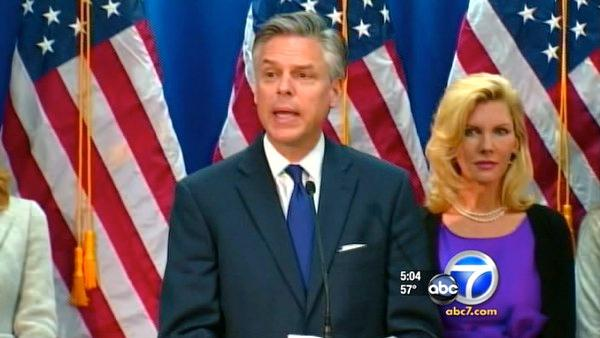 Jon Huntsman quits GOP race, endorses Romney