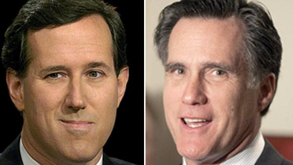 Romney, Santorum battle for Michigan, Arizona