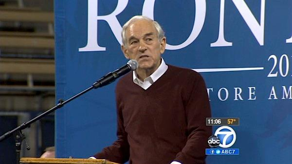 Ron Paul visits UCLA during 3-day CA trip