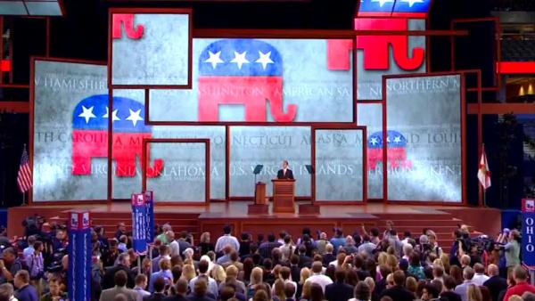 GOP convention opens, immediately recesses