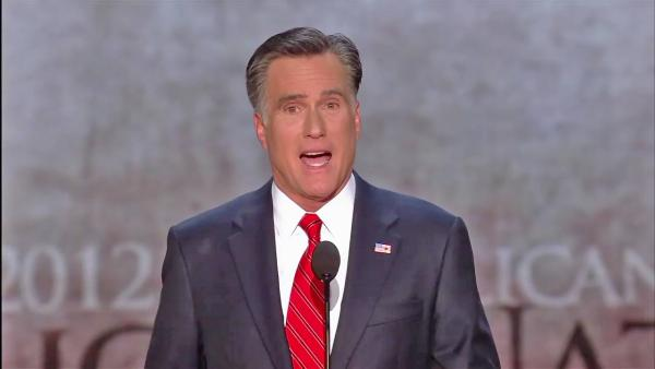 Romney accepts GOP presidential nomination
