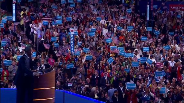President Barack Obama speaks at the Democratic National Convention in Charlotte, N.C., on Thursday, Sept. 6, 2012.