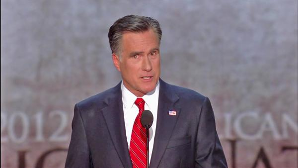 Mitt Romney takes swipe at California?