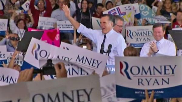 Romney shows confidence in final hours