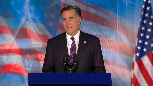 Former Massachusetts Gov. Mitt Romney delivers a speech at his campaign headquarters in Boston conceding defeat to President Barack Obama in the presidential election on Wednesday, Nov. 7, 2012.