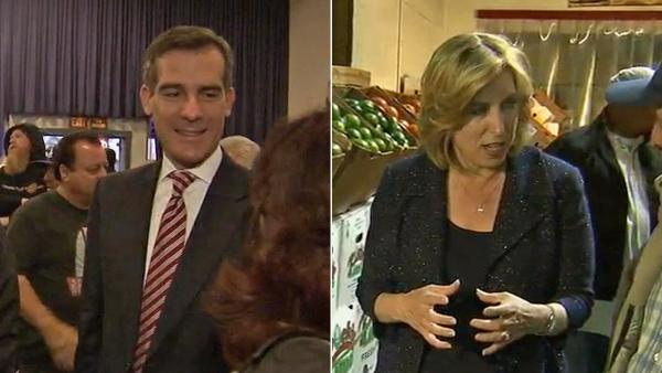 Greuel has slight lead over Garcetti - poll