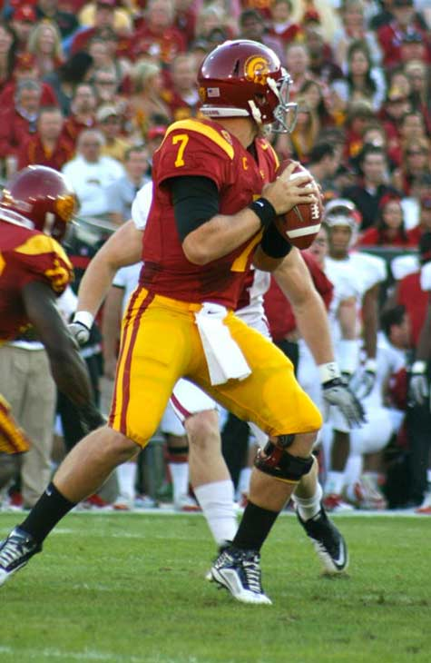 USC played Stanford on Saturday Oct. 29, 2011 at the Coliseum. The No. 4 Cardinals beat the No. 20 Trojans 56-48 in triple OT. <span class=meta>(KABC)</span>
