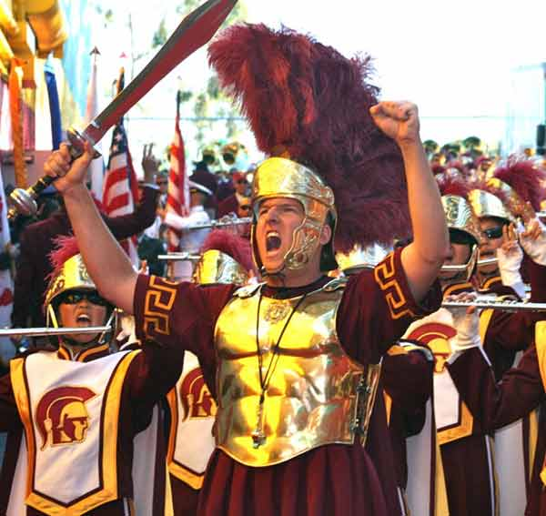 The Trojan band gets ready before the USC vs. Stanford game on Saturday Oct. 29, 2011 at the Coliseum. The No. 4 Cardinals beat No. 20 USC 56-48 in triple OT. <span class=meta>(KABC)</span>