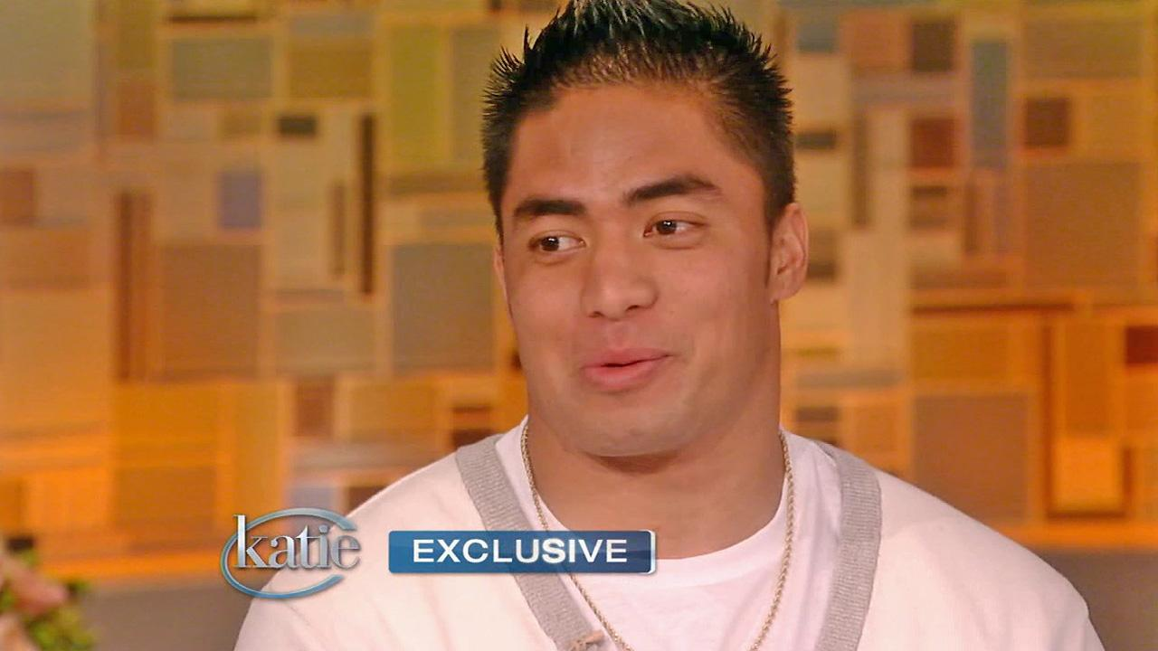 Manti Teo is seen on Katie on Thursday, Jan. 24, 2013.