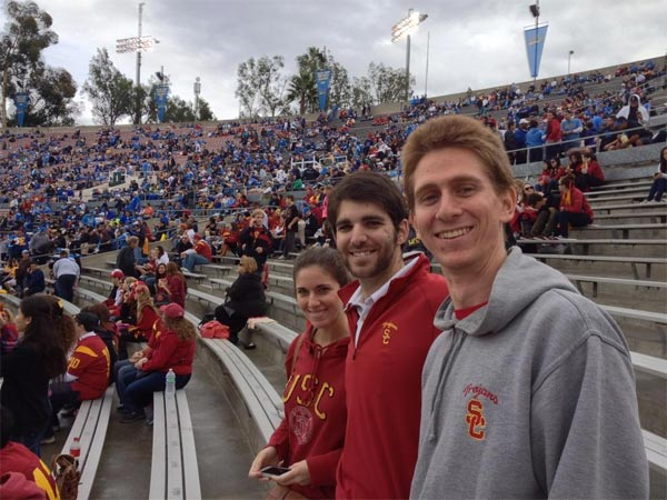 ABC7 viewer Anita Miller posted this photo from the USC-UCLA game on Saturday, Nov. 17, 2012.