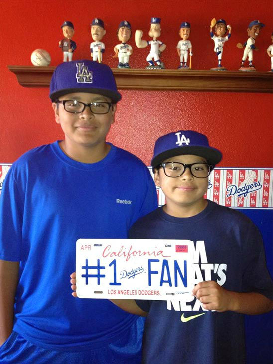 "<div class=""meta ""><span class=""caption-text "">Show us your Dodger love! Post your fan photos on our ABC7 Facebook page, and you might be featured on-air. You can also send us your photos on Twitter or Instagram with #abc7dodgers. LET'S GO DODGERS! (KABC Photo / Abril Montalban)</span></div>"