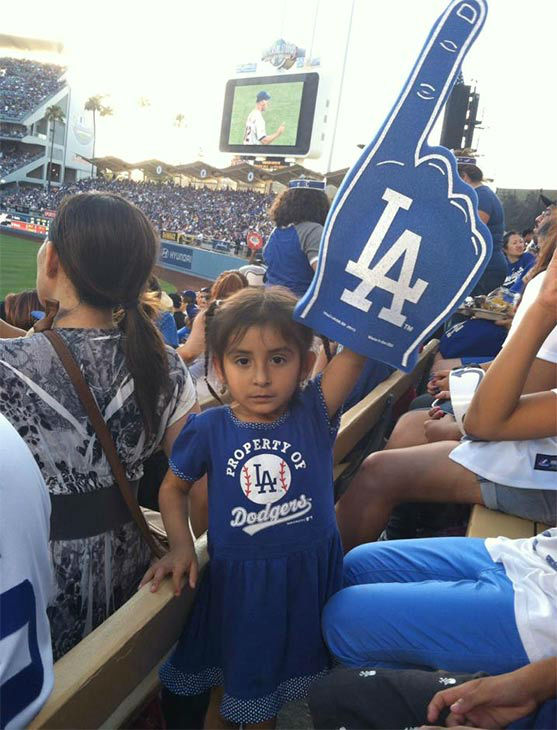 "<div class=""meta ""><span class=""caption-text "">Show us your Dodger love! Post your fan photos on our ABC7 Facebook page, and you might be featured on-air. You can also send us your photos on Twitter or Instagram with #abc7dodgers. LET'S GO DODGERS! (KABC Photo / Angel Javier Farjardo)</span></div>"