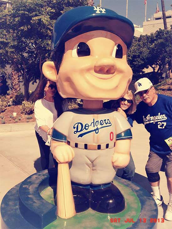 Show us your Dodger love! Post your fan photos on our ABC7 Facebook page, and you might be featured on-air. You can also send us your photos on Twitter or Instagram with #abc7dodgers. LET&#39;S GO DODGERS! <span class=meta>(KABC Photo &#47; Clarissa Cervantes)</span>