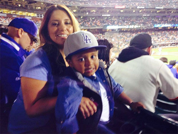 "<div class=""meta ""><span class=""caption-text "">Show us your Dodger love! Post your fan photos on our ABC7 Facebook page, and you might be featured on-air. You can also send us your photos on Twitter or Instagram with #abc7dodgers. LET'S GO DODGERS! (KABC Photo / Elaine de la Torre)</span></div>"