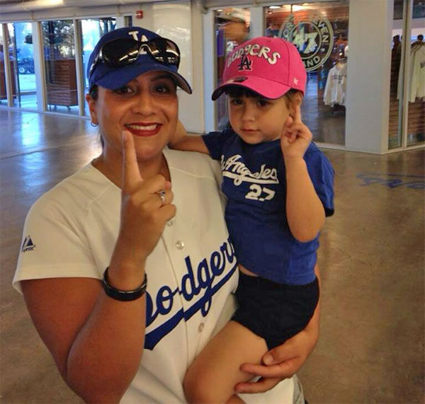 Show us your Dodger love! Post your fan photos on our ABC7 Facebook page, and you might be featured on-air. You can also send us your photos on Twitter or Instagram with #abc7dodgers. LET&#39;S GO DODGERS! <span class=meta>(KABC Photo &#47; Gaby Nunez)</span>