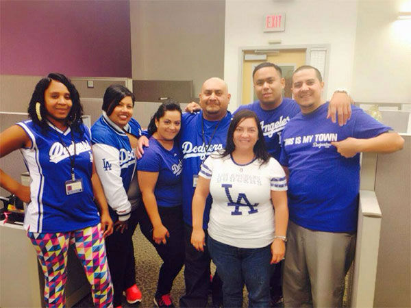 "<div class=""meta ""><span class=""caption-text "">Show us your Dodger love! Post your fan photos on our ABC7 Facebook page, and you might be featured on-air. You can also send us your photos on Twitter or Instagram with #abc7dodgers. LET'S GO DODGERS! (KABC Photo / Johanna Garcia)</span></div>"