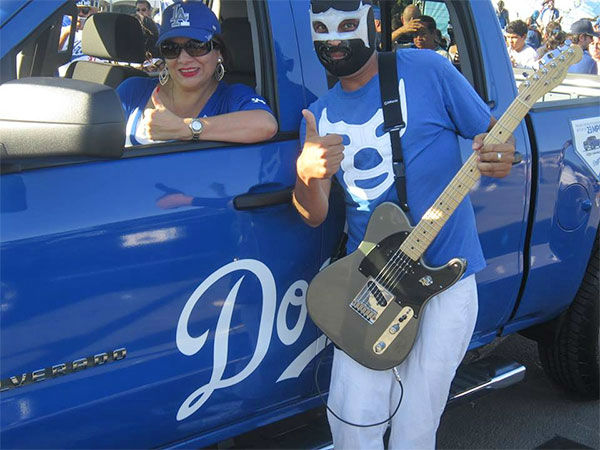 Show us your Dodger love! Post your fan photos on our ABC7 Facebook page, and you might be featured on-air. You can also send us your photos on Twitter or Instagram with #abc7dodgers. LET&#39;S GO DODGERS! <span class=meta>(KABC Photo &#47; Beatrice Camarillo)</span>