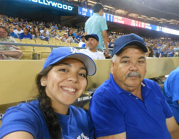 "<div class=""meta ""><span class=""caption-text "">Show us your Dodger love! Post your fan photos on our ABC7 Facebook page, and you might be featured on-air. You can also send us your photos on Twitter or Instagram with #abc7dodgers. LET'S GO DODGERS! (KABC Photo / Brenda Ramirez)</span></div>"