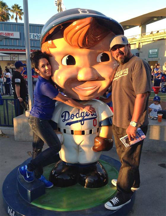 Show us your Dodger love! Post your fan photos on our ABC7 Facebook page, and you might be featured on-air. You can also send us your photos on Twitter or Instagram with #abc7dodgers. LET&#39;S GO DODGERS! <span class=meta>(KABC Photo &#47; Claudia Santoyo Becerra)</span>