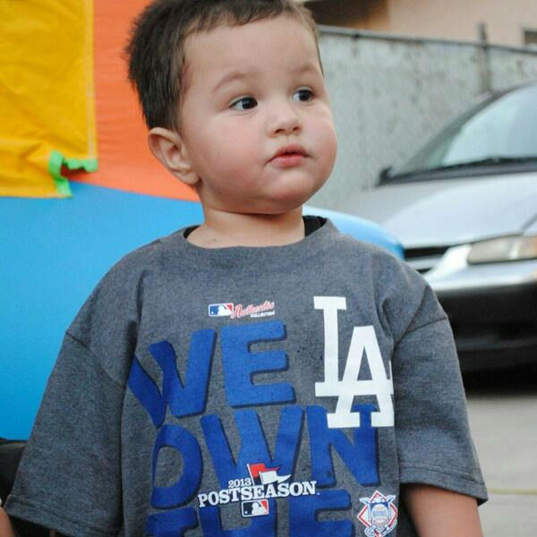 "<div class=""meta ""><span class=""caption-text "">Show us your Dodger love! Post your fan photos on our ABC7 Facebook page, and you might be featured on-air. You can also send us your photos on Twitter or Instagram with #abc7dodgers. LET'S GO DODGERS! (KABC Photo / Darlene Salazar)</span></div>"