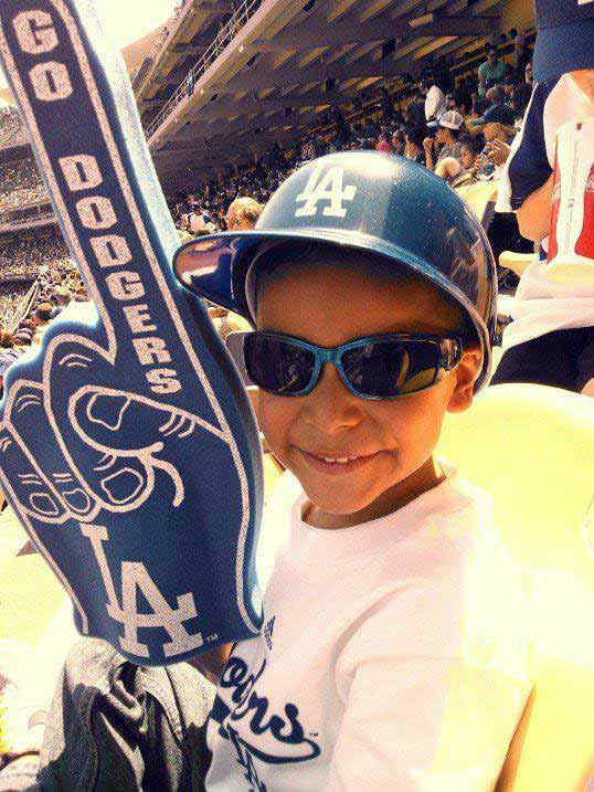 "<div class=""meta ""><span class=""caption-text "">Show us your Dodger love! Post your fan photos on our ABC7 Facebook page, and you might be featured on-air. You can also send us your photos on Twitter or Instagram with #abc7dodgers. LET'S GO DODGERS! (KABC Photo / Denise Valencia)</span></div>"