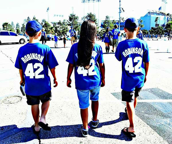 Show us your Dodger love! Post your fan photos on our ABC7 Facebook page, and you might be featured on-air. You can also send us your photos on Twitter or Instagram with #abc7dodgers. LET&#39;S GO DODGERS! <span class=meta>(KABC Photo &#47; Evelia Yacuta Ragsdale)</span>