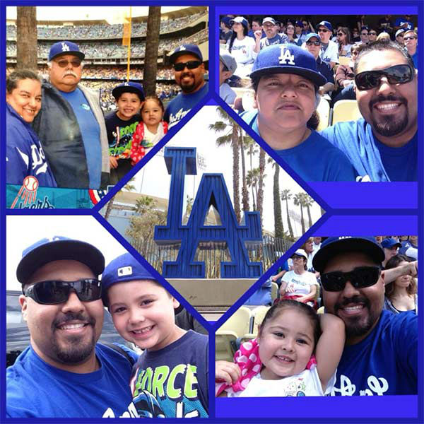 "<div class=""meta ""><span class=""caption-text "">Show us your Dodger love! Post your fan photos on our ABC7 Facebook page, and you might be featured on-air. You can also send us your photos on Twitter or Instagram with #abc7dodgers. LET'S GO DODGERS! (KABC Photo / Gabriel Orendain)</span></div>"