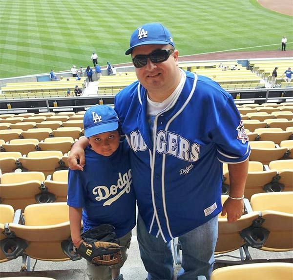 "<div class=""meta ""><span class=""caption-text "">Show us your Dodger love! Post your fan photos on our ABC7 Facebook page, and you might be featured on-air. You can also send us your photos on Twitter or Instagram with #abc7dodgers. LET'S GO DODGERS! (KABC Photo / Hugo Alvarado)</span></div>"