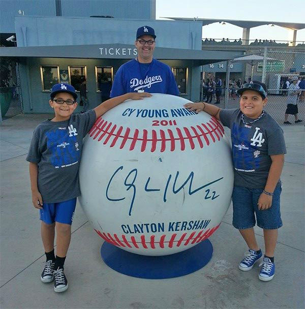 "<div class=""meta ""><span class=""caption-text "">Show us your Dodger love! Post your fan photos on our ABC7 Facebook page, and you might be featured on-air. You can also send us your photos on Twitter or Instagram with #abc7dodgers. LET'S GO DODGERS! (KABC Photo / John Moses)</span></div>"