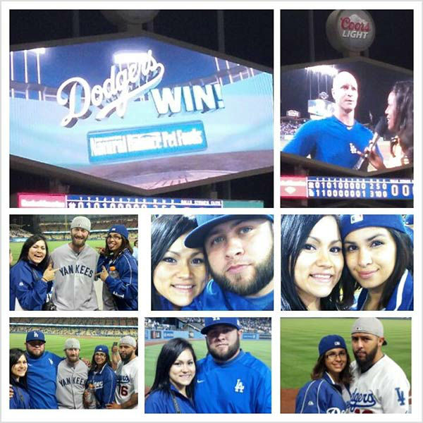 "<div class=""meta ""><span class=""caption-text "">Show us your Dodger love! Post your fan photos on our ABC7 Facebook page, and you might be featured on-air. You can also send us your photos on Twitter or Instagram with #abc7dodgers. LET'S GO DODGERS! (KABC Photo / Judith Martinez)</span></div>"