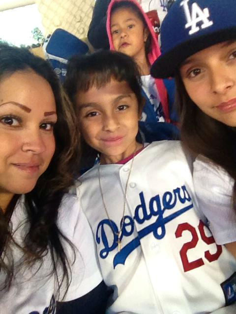 "<div class=""meta ""><span class=""caption-text "">Show us your Dodger love! Post your fan photos on our ABC7 Facebook page, and you might be featured on-air. You can also send us your photos on Twitter or Instagram with #abc7dodgers. LET'S GO DODGERS! (KABC Photo / Marcie Ramos)</span></div>"