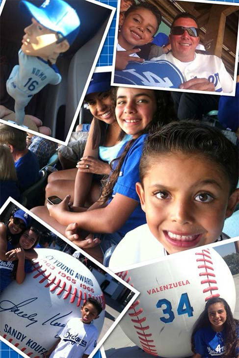 "<div class=""meta ""><span class=""caption-text "">Show us your Dodger love! Post your fan photos on our ABC7 Facebook page, and you might be featured on-air. You can also send us your photos on Twitter or Instagram with #abc7dodgers. LET'S GO DODGERS! (KABC Photo / Maria Sanchez)</span></div>"